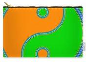 Yin Yang Orange Green Pop Art Carry-all Pouch