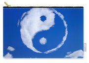 Yin-yang Symbol Made Of Clouds Carry-all Pouch