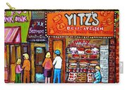 Yitzs Deli Toronto Restaurants Cafe Scenes Paintings Of Toronto Landmark City Scenes Carole Spandau  Carry-all Pouch