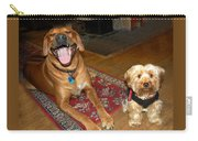 Yorkie And Ridgeback Carry-all Pouch