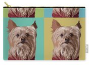 Yorkie Times Four Carry-all Pouch