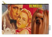 Yorkshire Terrier Art Canvas Print - Casablanca Movie Poster Carry-all Pouch