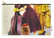 Yorkshire Terrier Art Canvas Print - Love In The Afternoon Movie Poster Carry-all Pouch