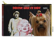 Yorkshire Terrier Art Canvas Print - Some Like It Hot Movie Poster Carry-all Pouch
