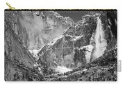 Yosemite Falls In Black And White II Carry-all Pouch by Bill Gallagher