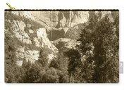Yosemite Falls Sepia Carry-all Pouch
