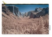 Yosemite Vally In Infrared Carry-all Pouch