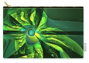 You Are Here --  Events Conspire -- Green Carry-all Pouch