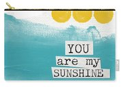 You Are My Sunshine- Abstract Mod Art Carry-all Pouch