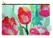 You Enlighten Me- Painting Of Tulips Carry-all Pouch