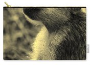 Young Baboon In Black And White Carry-all Pouch