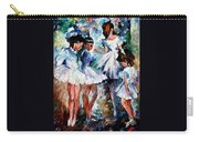 Young Ballerinas - Palette Knife Oil Painting On Canvas By Leonid Afremov Carry-all Pouch