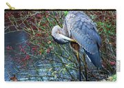 Young Blue Heron Preening Carry-all Pouch