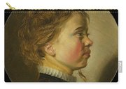Young Boy In Profile  Carry-all Pouch