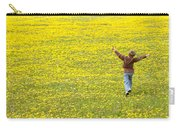 Young Boy Running Through Field Of Carry-all Pouch