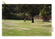 Young Boys Playing Cricket In A Park Near Delhi Zoo Carry-all Pouch