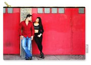 Young Couple Red Doors Carry-all Pouch