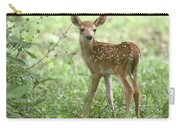 Young Fawn In The Woods Carry-all Pouch