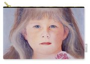 Young Girl With Roses Carry-all Pouch