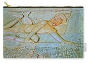 Young God-figure On Wall In Angkor Wat In Angkor Wat Archeological Park Near Siem Reap-cambodia Carry-all Pouch