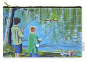 Young Lads Fishing Carry-all Pouch
