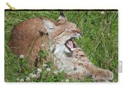Young Lynx Yawning Carry-all Pouch