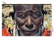 Portrait Of Young Maasai Woman At Ngorongoro Conservation Tanzania Carry-all Pouch