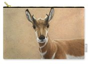 Young Pronghorn Carry-all Pouch by James W Johnson