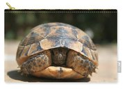 Young Spur Thighed Tortoise Looking Out Of Its Shell Carry-all Pouch