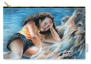 Young Tahitian Mermaid Carry-all Pouch