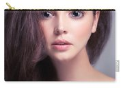 Young Woman Anime Style Beauty Portrait With Beautiful Large Gra Carry-all Pouch