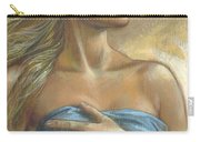 Young Woman With Blue Drape Crop Carry-all Pouch