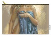 Young Woman With Blue Drape Carry-all Pouch