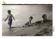 Youth At The Beach Carry-all Pouch