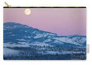 Yukon Canada Winter Landscape And Full Moon Rising Carry-all Pouch