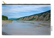 Yukon River As It Heads Northeast To The Arctic Circle-yt Carry-all Pouch