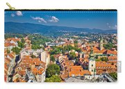 Zagreb Capital Of Croatia Aerial View Carry-all Pouch