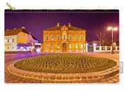 Zagreb Street Architecture Night Scene Carry-all Pouch
