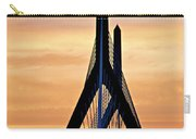 Zakim Bridge In Boston Carry-all Pouch by Elena Elisseeva