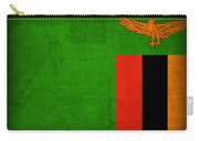 Zambia Flag Distressed Vintage Finish Carry-all Pouch
