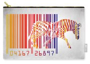 Zebra Barcode Carry-all Pouch by Mark Ashkenazi