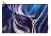Zebra Blue Carry-all Pouch