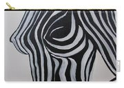 Zebra Body Paint Carry-all Pouch