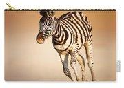 Zebra Calf Running Carry-all Pouch