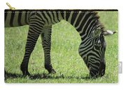 Zebra Eating Grass Carry-all Pouch