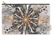 Zebra Flower Carry-all Pouch