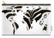 Zebra Fur World Map Carry-all Pouch