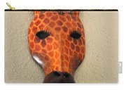 Zebra Head Mask Carry-all Pouch