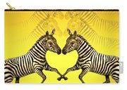 Zebra Heart Carry-all Pouch