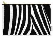 Zebra Hide Carry-all Pouch